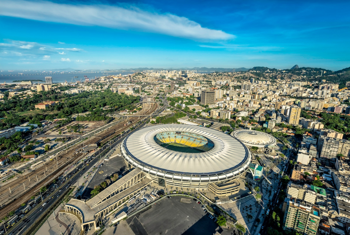 Overhead picture of Rio stadium
